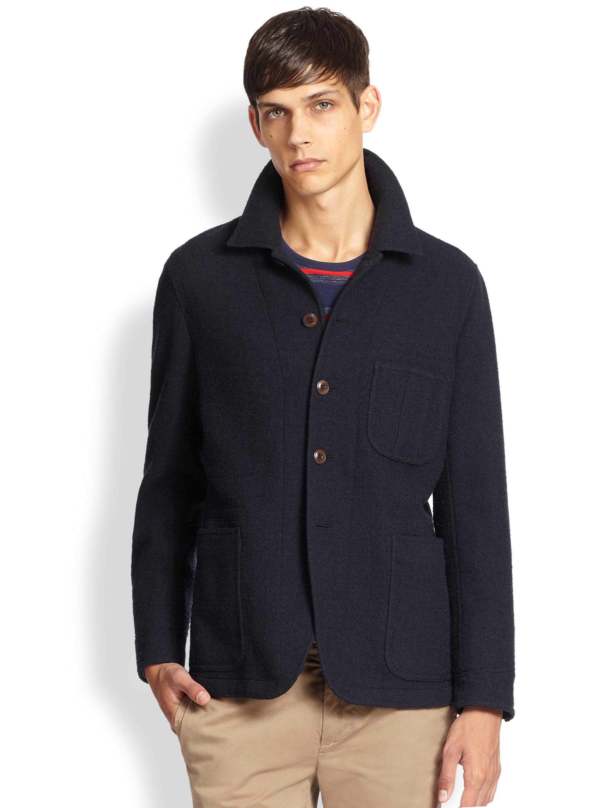 Jack spade Shelton Wool Work Jacket in Blue for Men | Lyst