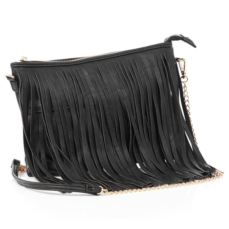 Oasis Tassel Cross Body Bag in Black - Lyst e504da71a92b