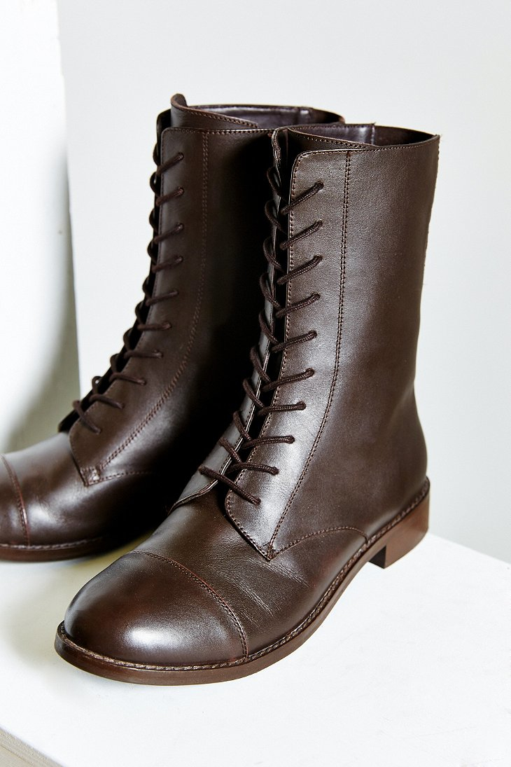 Lyst Urban Outfitters Louis Mid Lace Up Boot In Brown