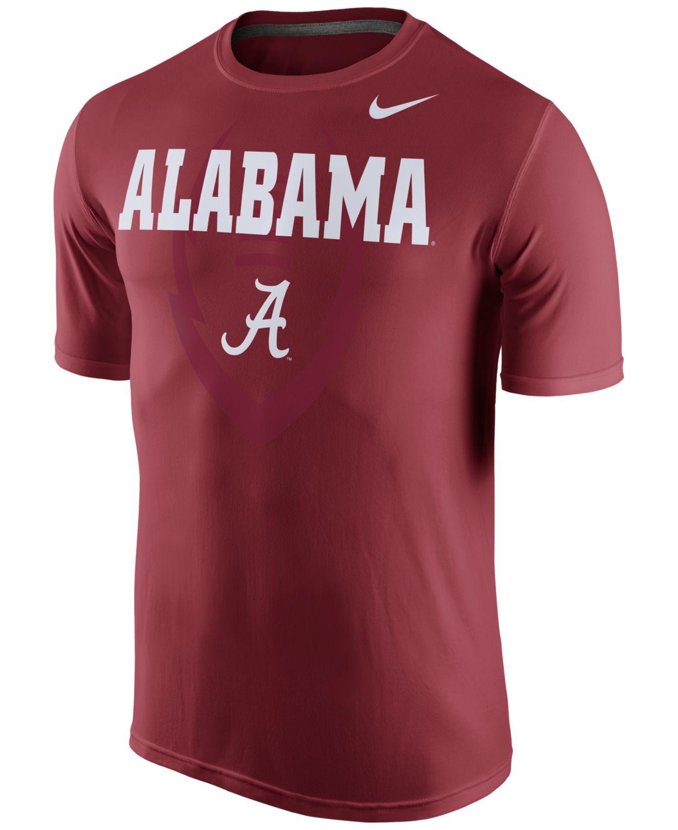 Nike men 39 s alabama crimson tide legend icon t shirt in red for T shirt printing mobile al
