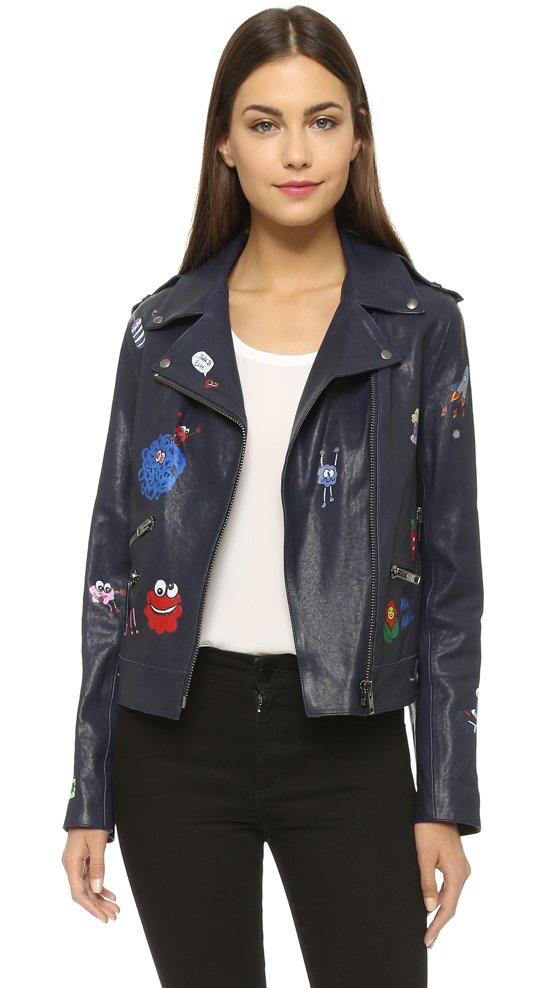 Painted leather jackets