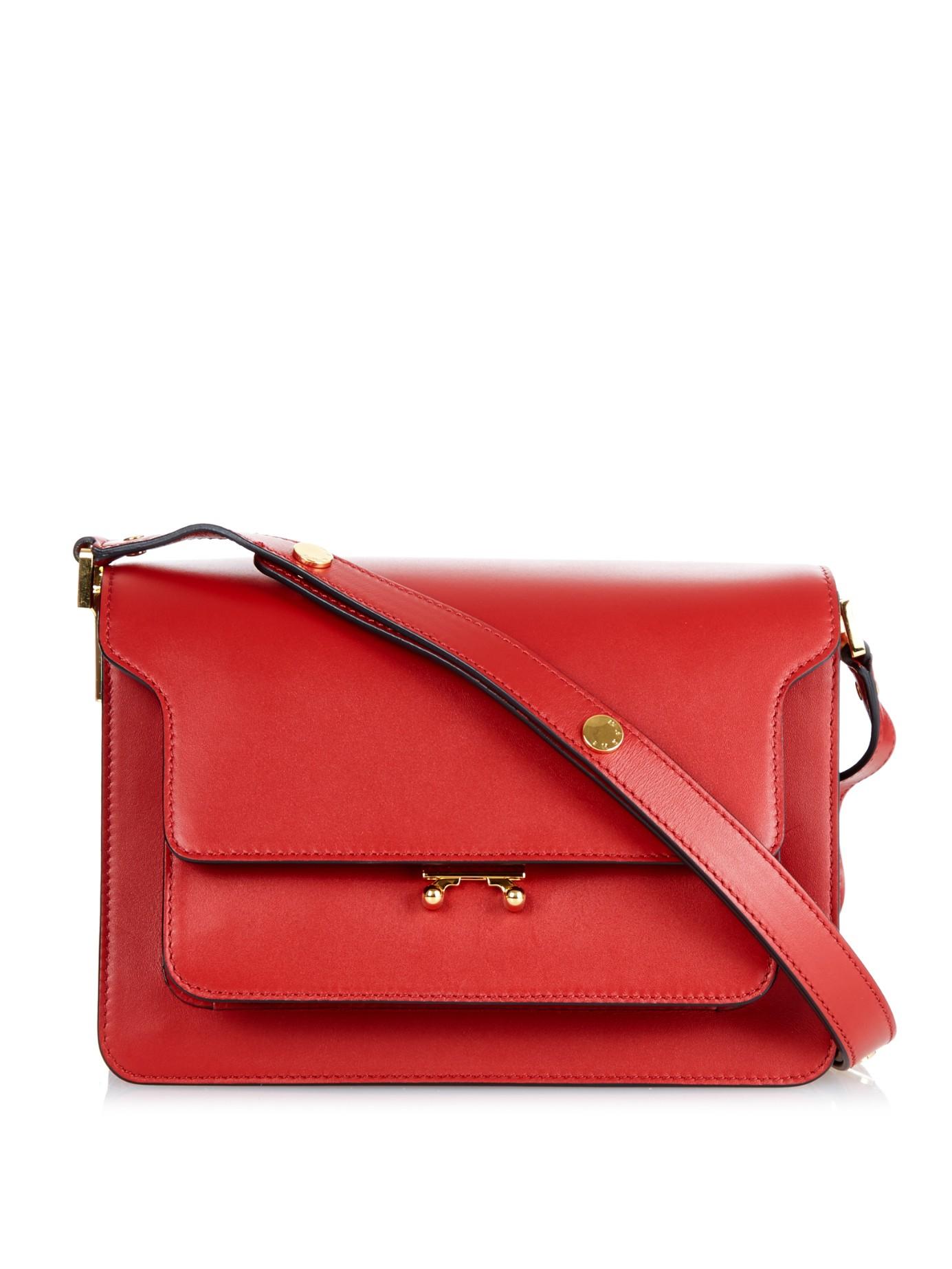 micro trunk shoulder bag - Red Marni For Nice Cheap Price Clearance Very Cheap Buy Cheap Big Sale XL5Q9ShJX