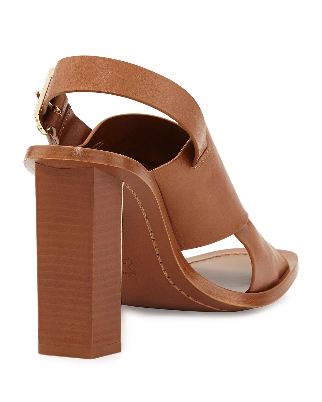 c06c9552c78c Lyst - Tory Burch Bleecker Slingback Leather Sandal in Brown