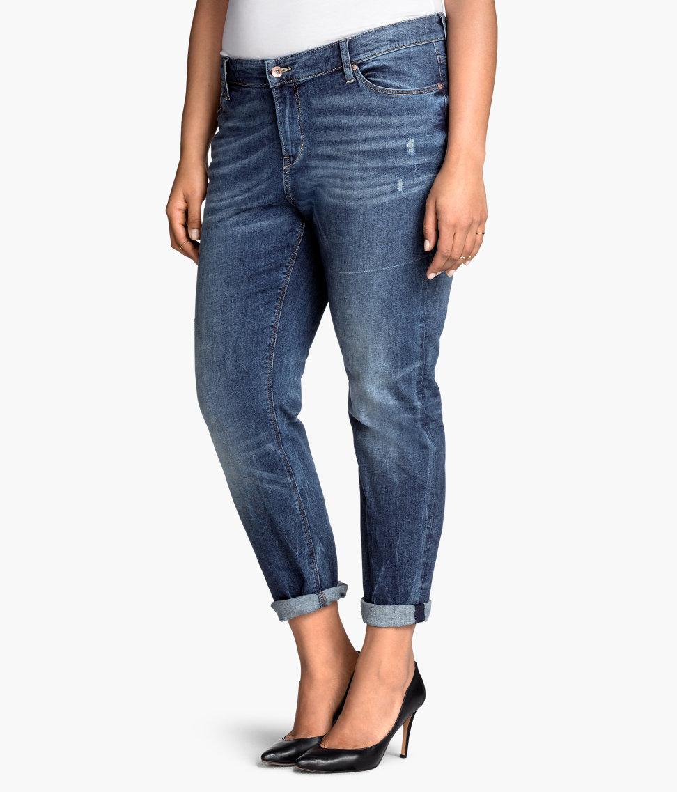 Hu0026m + Boyfriend Jeans in Blue | Lyst