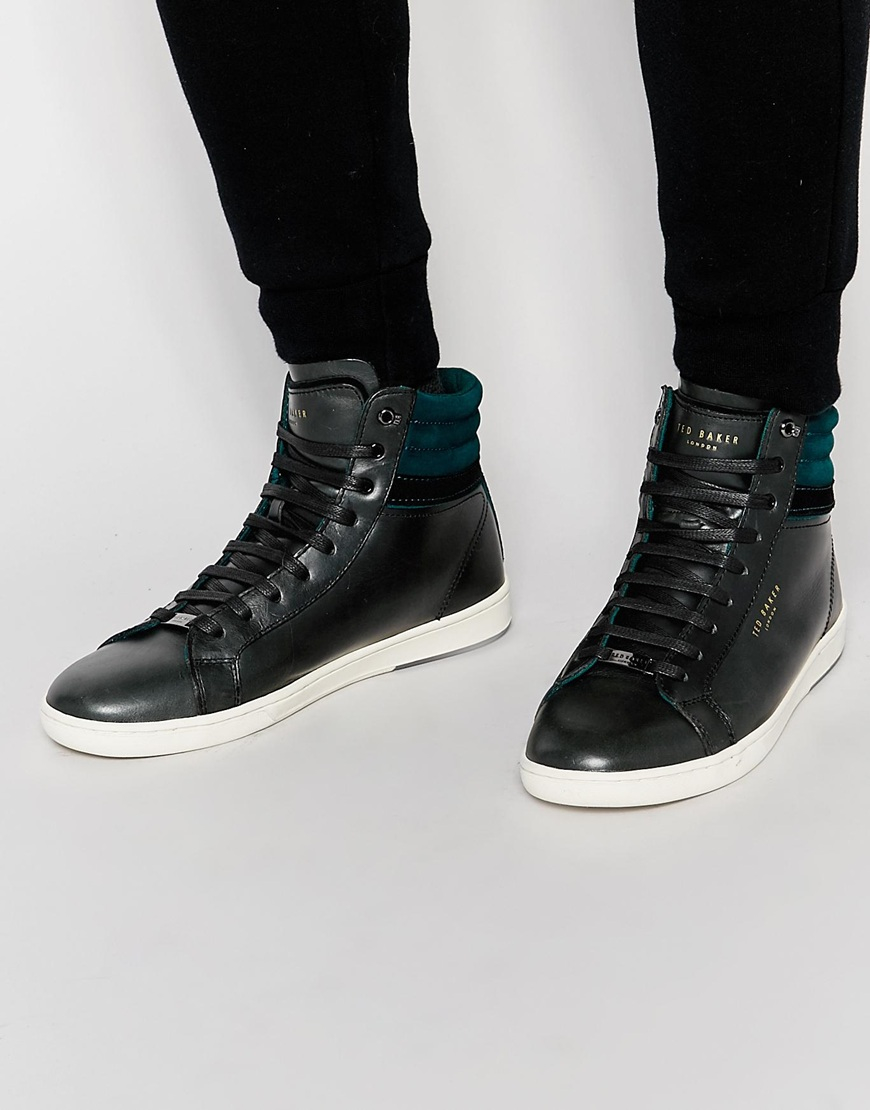 c587a8c3d61b1 Lyst - Ted Baker Kilma Hi Top Trainers in Black for Men
