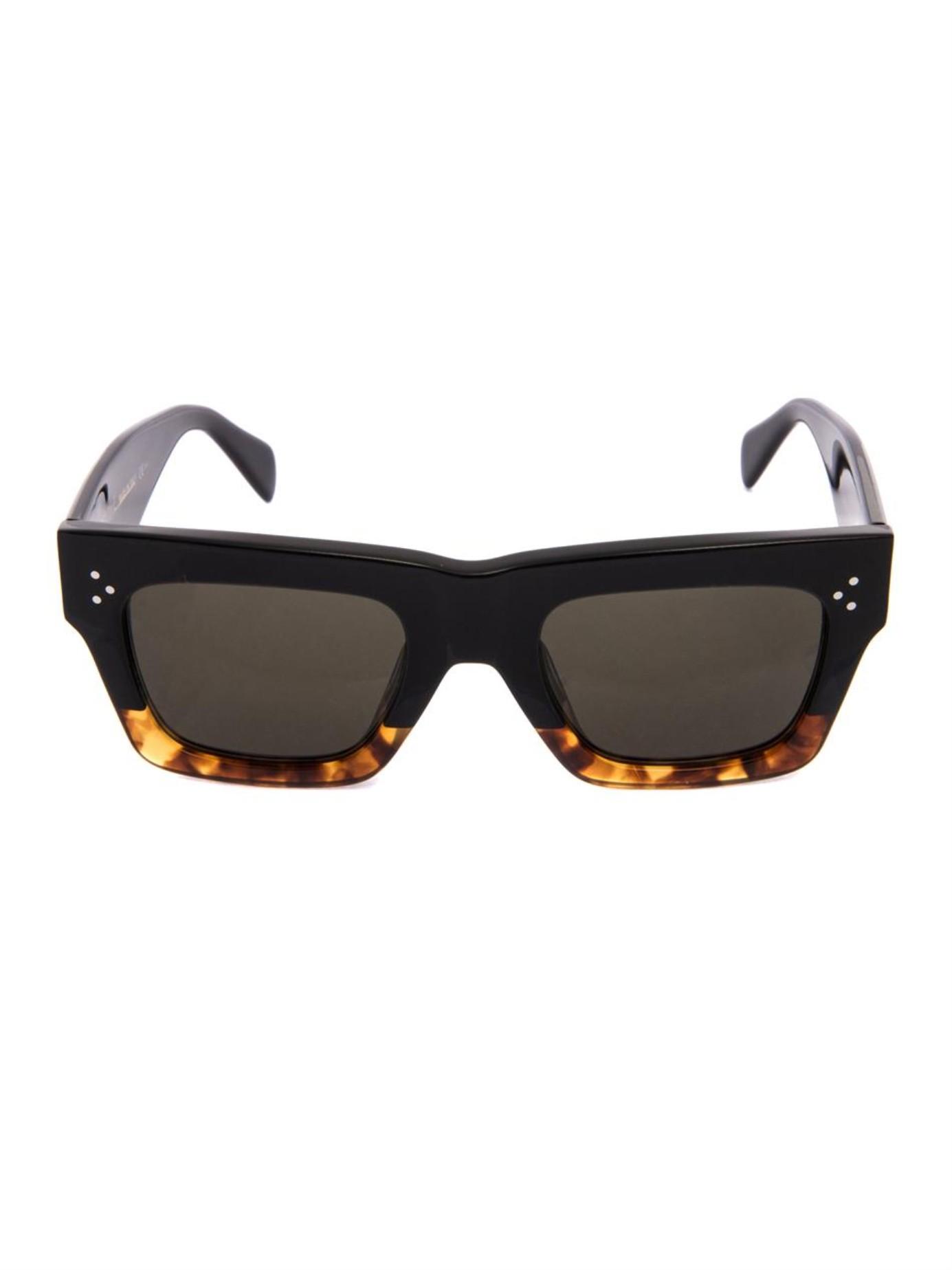 Square Framed Sunglasses  céline square framed acetate sunglasses in black lyst