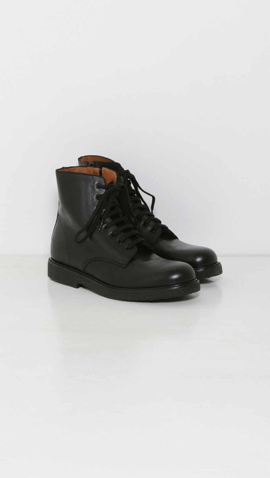 Lyst Common Projects Combat Boots In Black