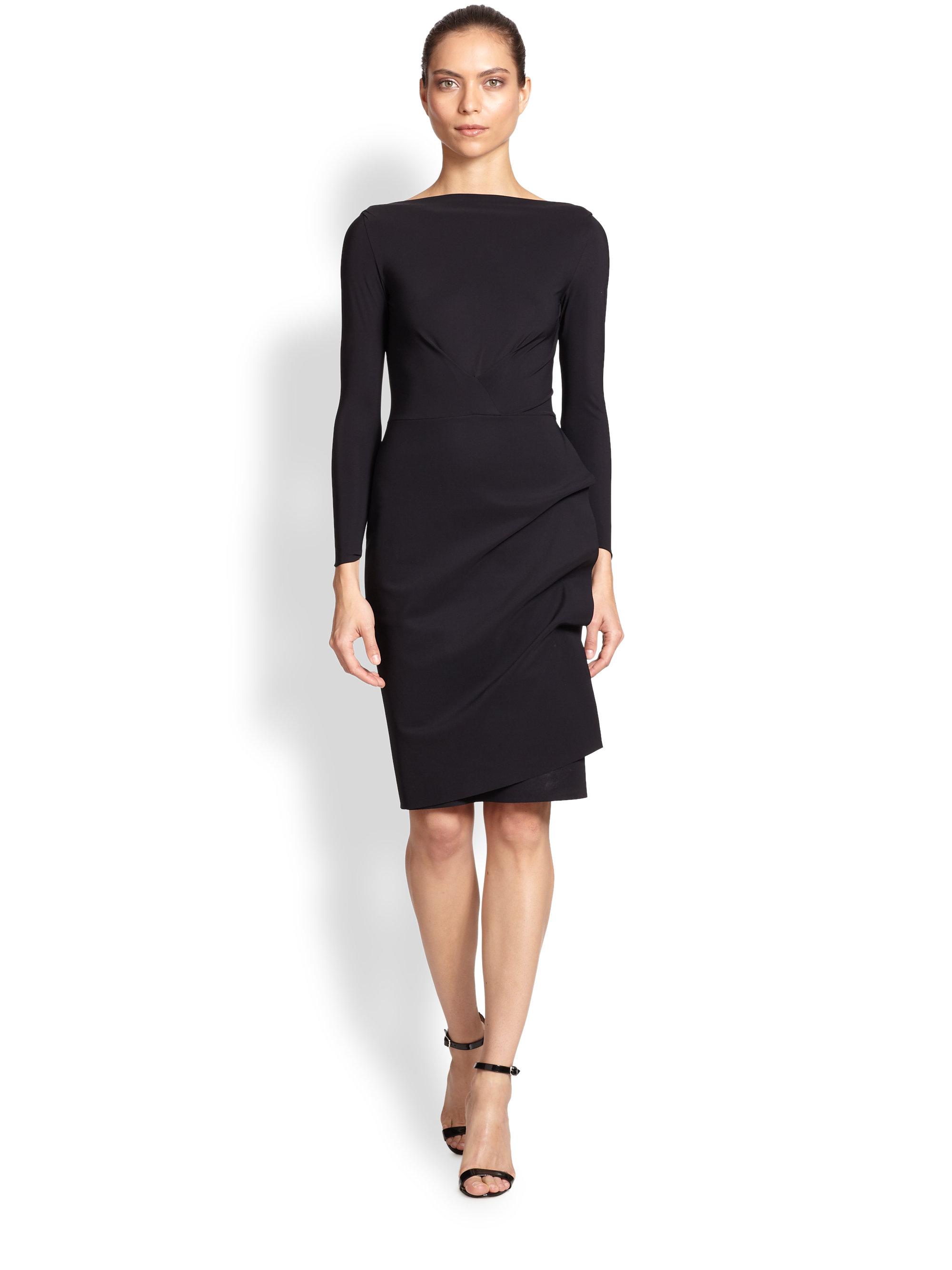 Black Long Sleeve Cocktail Dresses