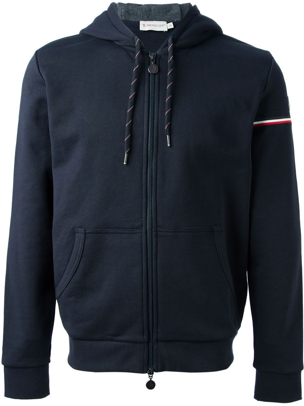 Crafted from soft cotton knit in classic navy, Moncler's Maglia jacket is panelled with tonal quilted technical fabric that's insulated with lightweight down fill. The patchwork pockets and two-way zip make this a must-have city look. Style yours with ankle boots and jeans at the weekend.