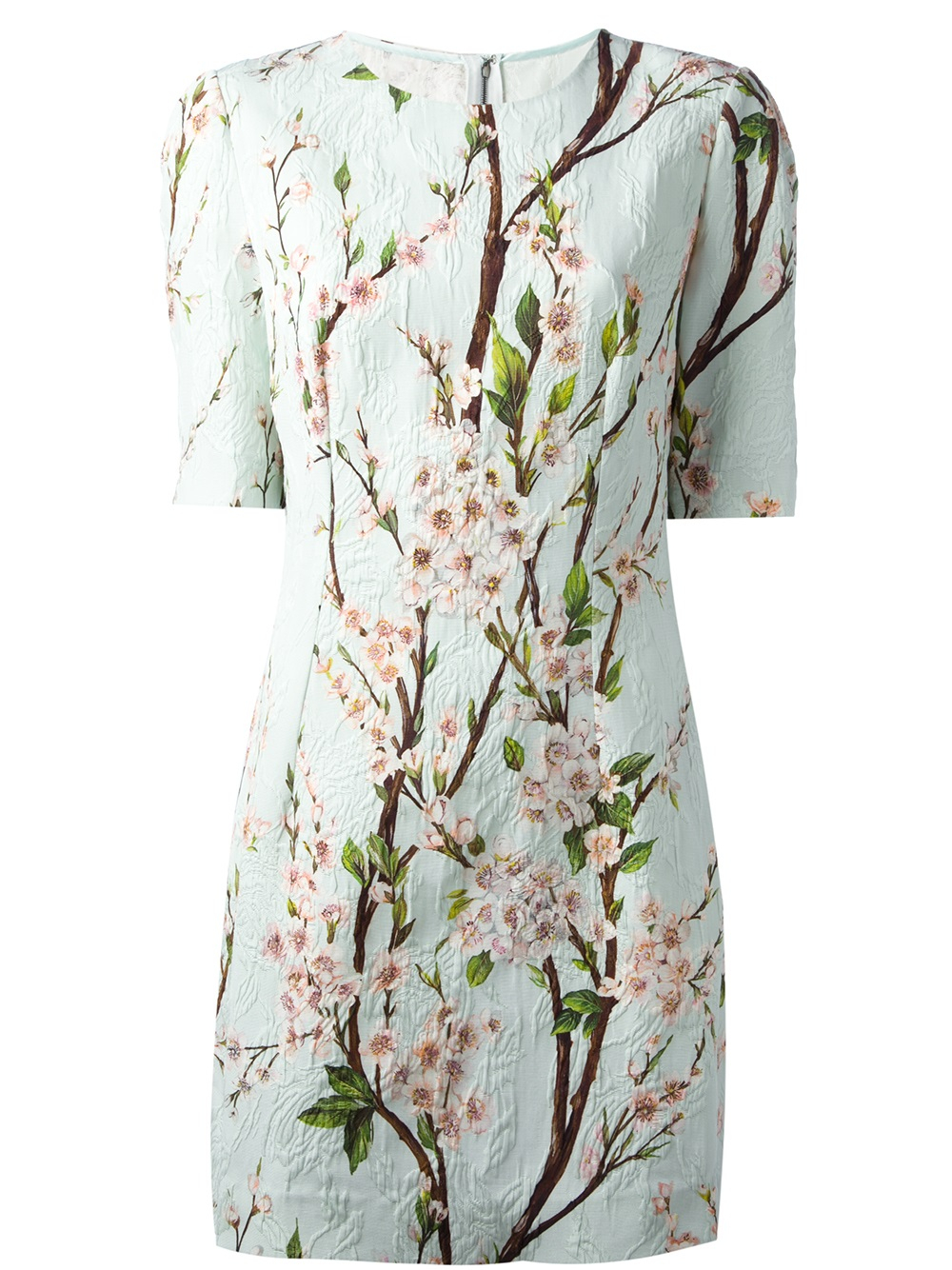 Lyst Dolce Amp Gabbana Cherry Blossom Print Dress In Blue