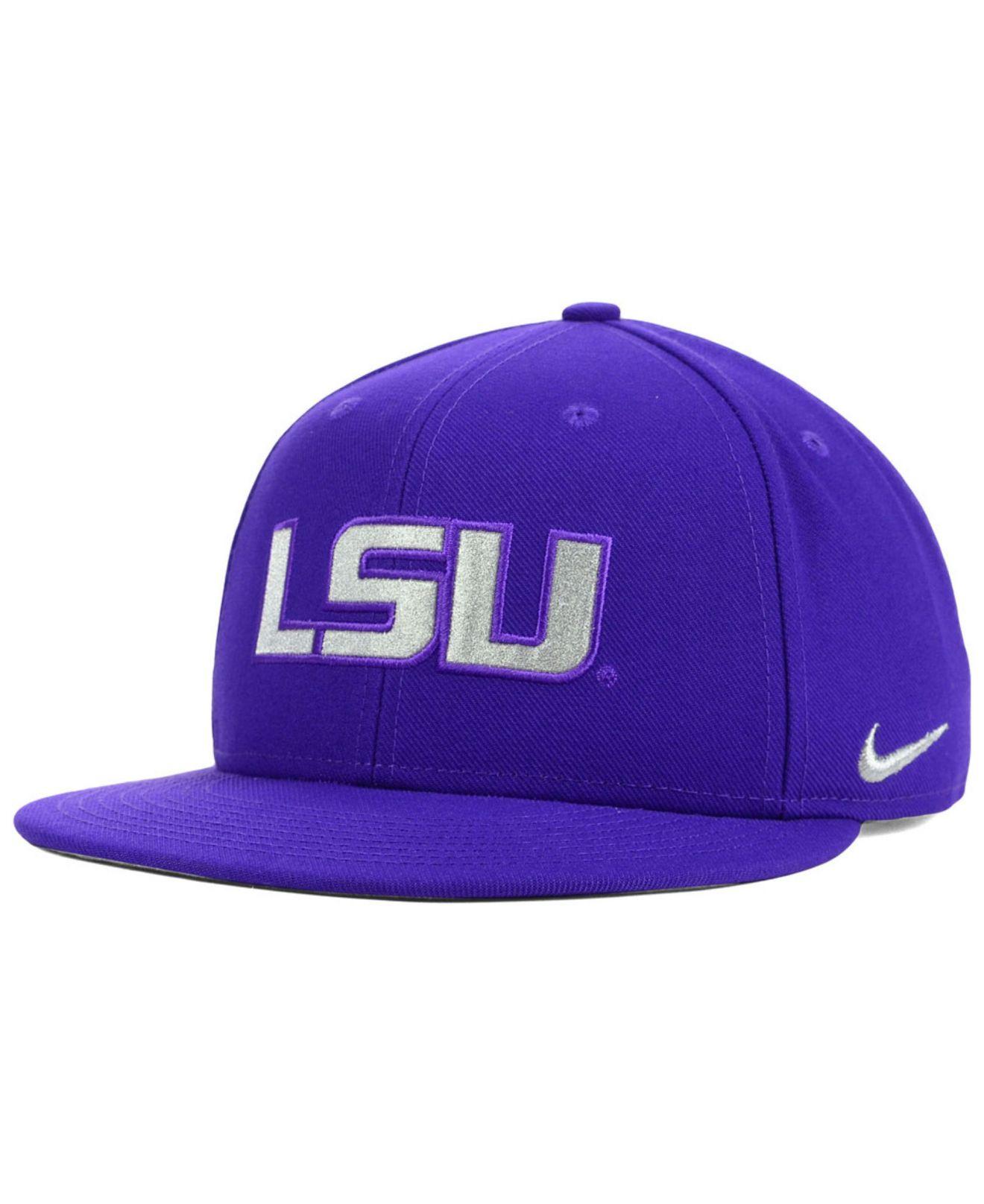 34090f926783c ... reduced lyst nike lsu tigers snapback cap in purple for men 98320 afb03