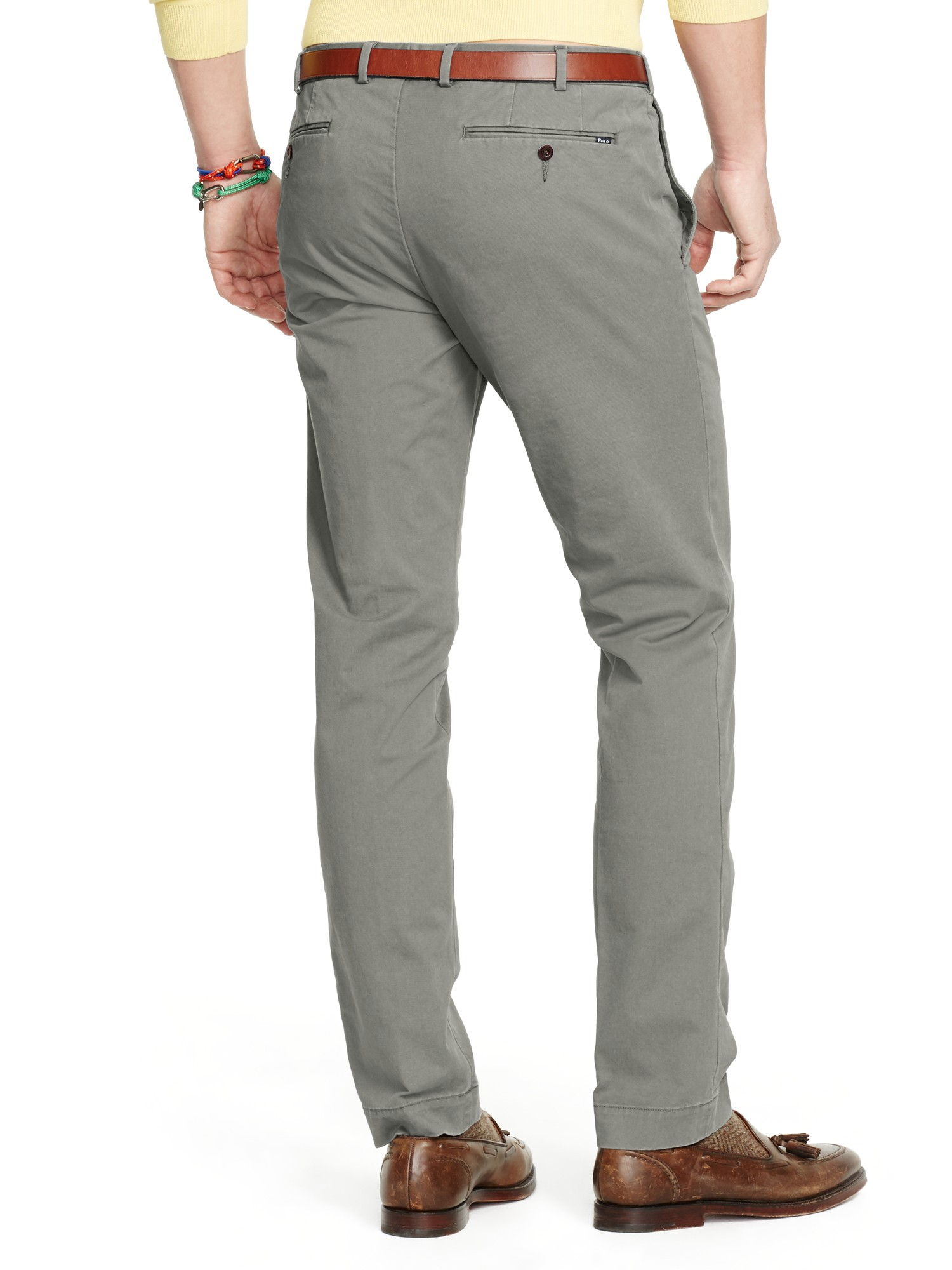Ralph lauren Polo Slim Fit Hudson Trousers in Gray for Men | Lyst