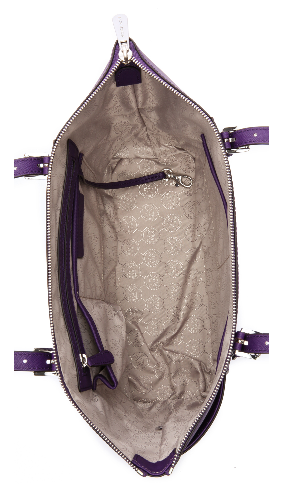 lyst michael michael kors jet set tote grape in purple. Black Bedroom Furniture Sets. Home Design Ideas