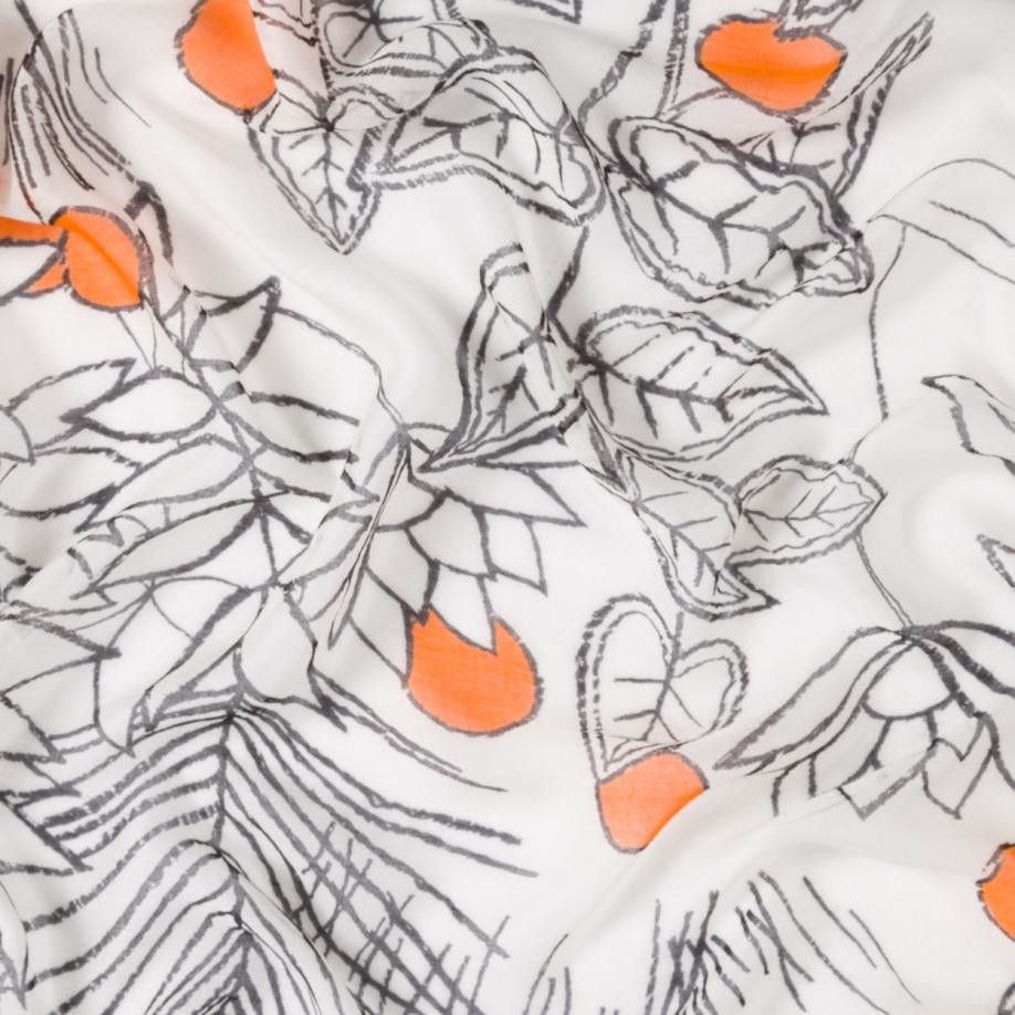 Paul smith Women's White And Black 'exotic Floral' Print Cashmere ...