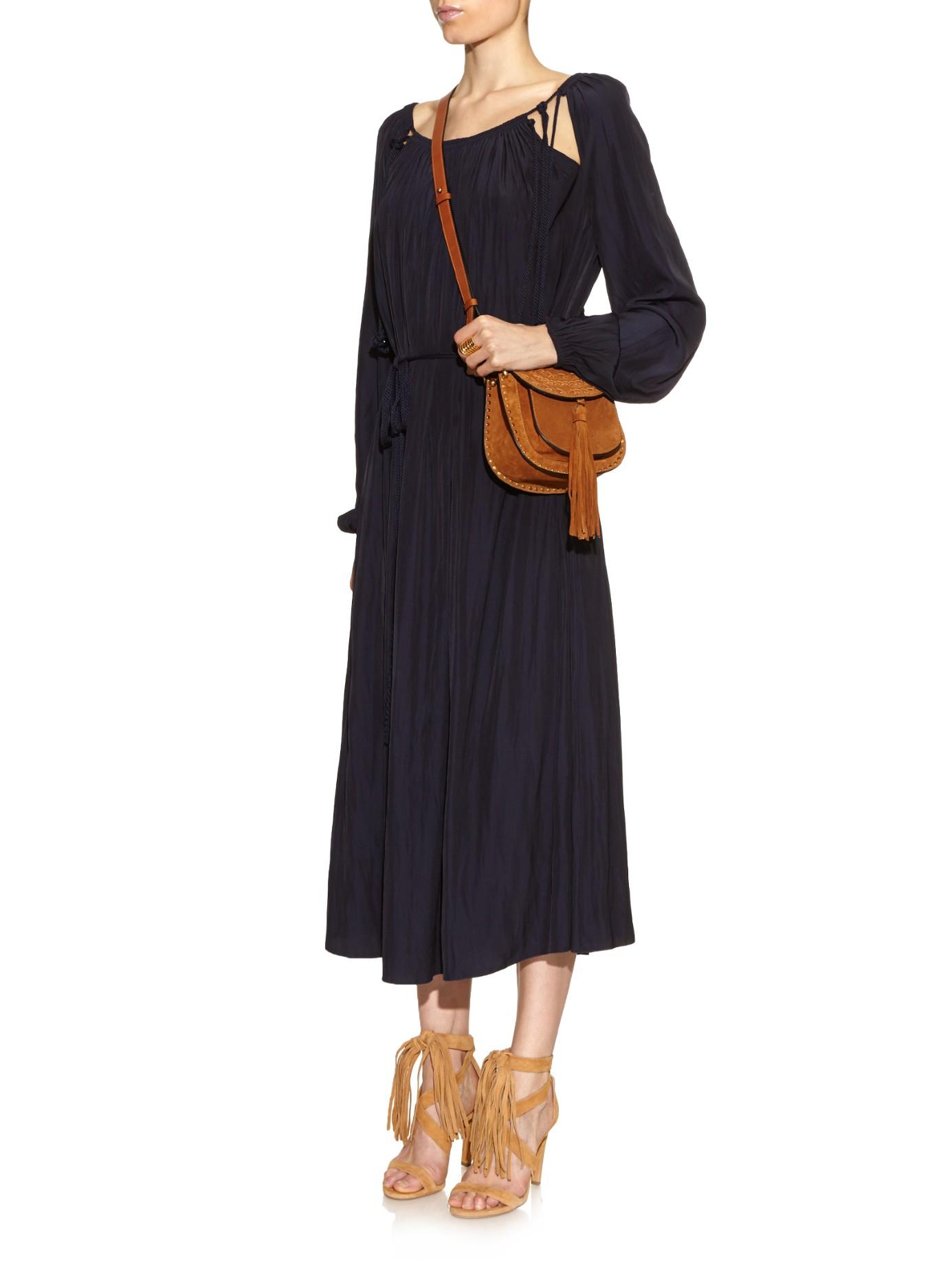 chloe paraty replica - Chlo�� Hudson Mini Suede Cross-Body Bag in Brown (TAN) | Lyst