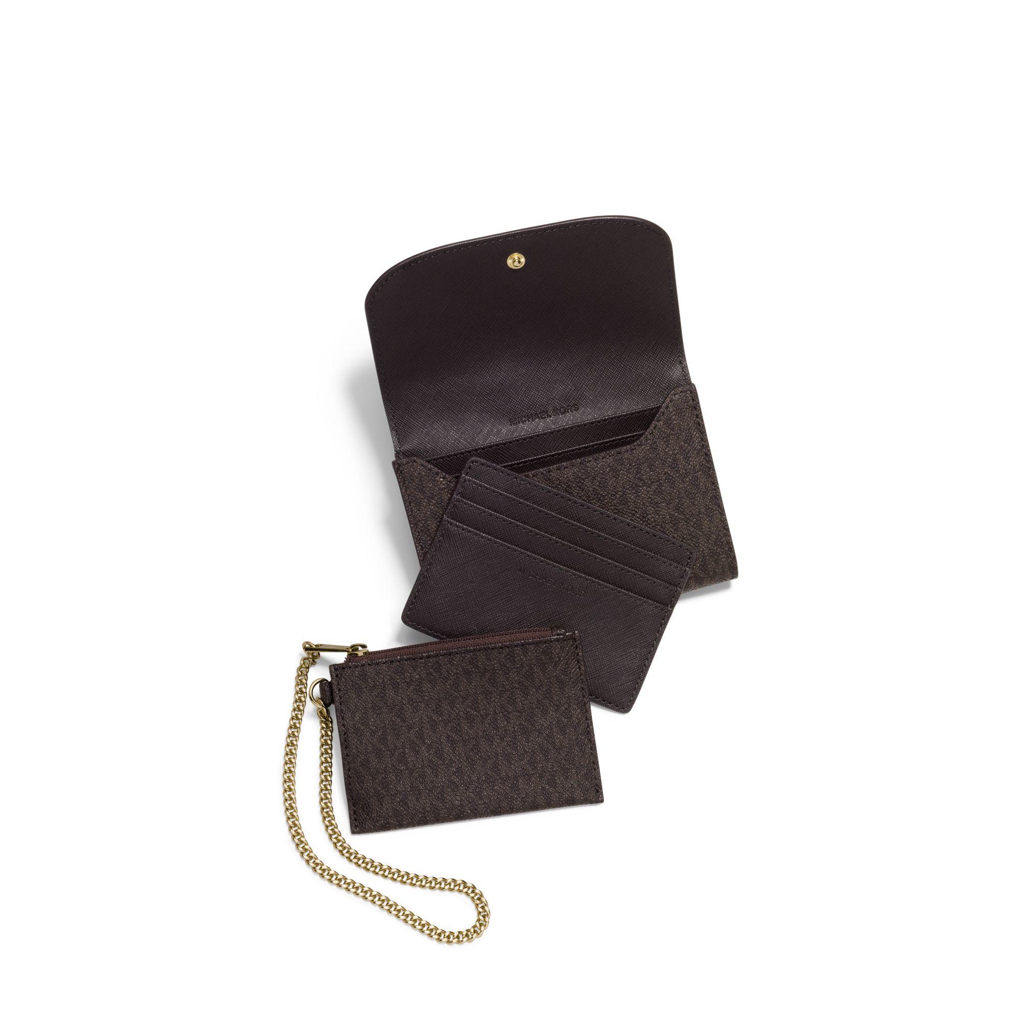 639c9316e6fb ... spain lyst michael kors juliana medium three in one wallet in brown  2cd57 f7d5e