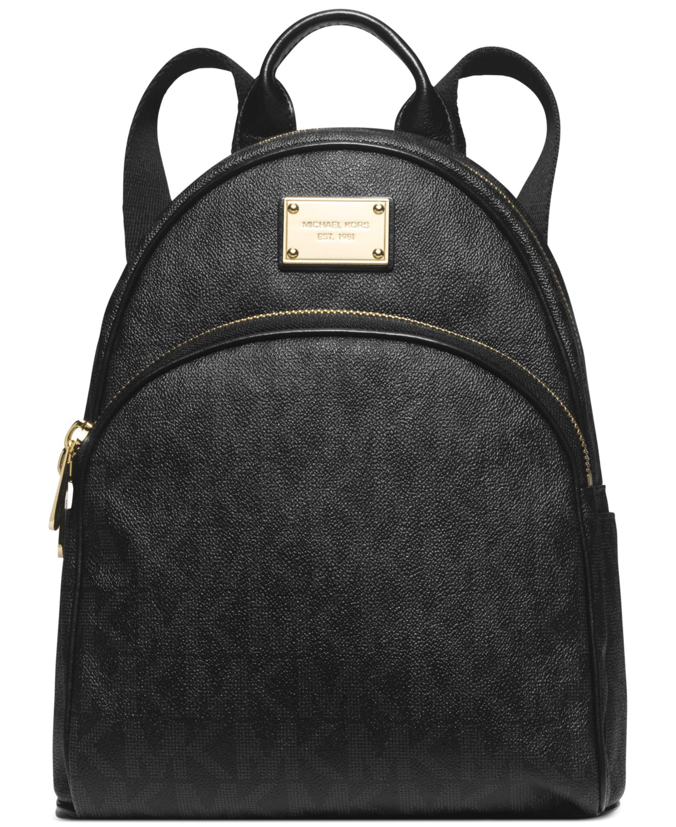 444290148e30 promo code michael kors abbey mini backpack d2554 51af5; netherlands lyst michael  kors michael signature small backpack in black efcdb 01c0e