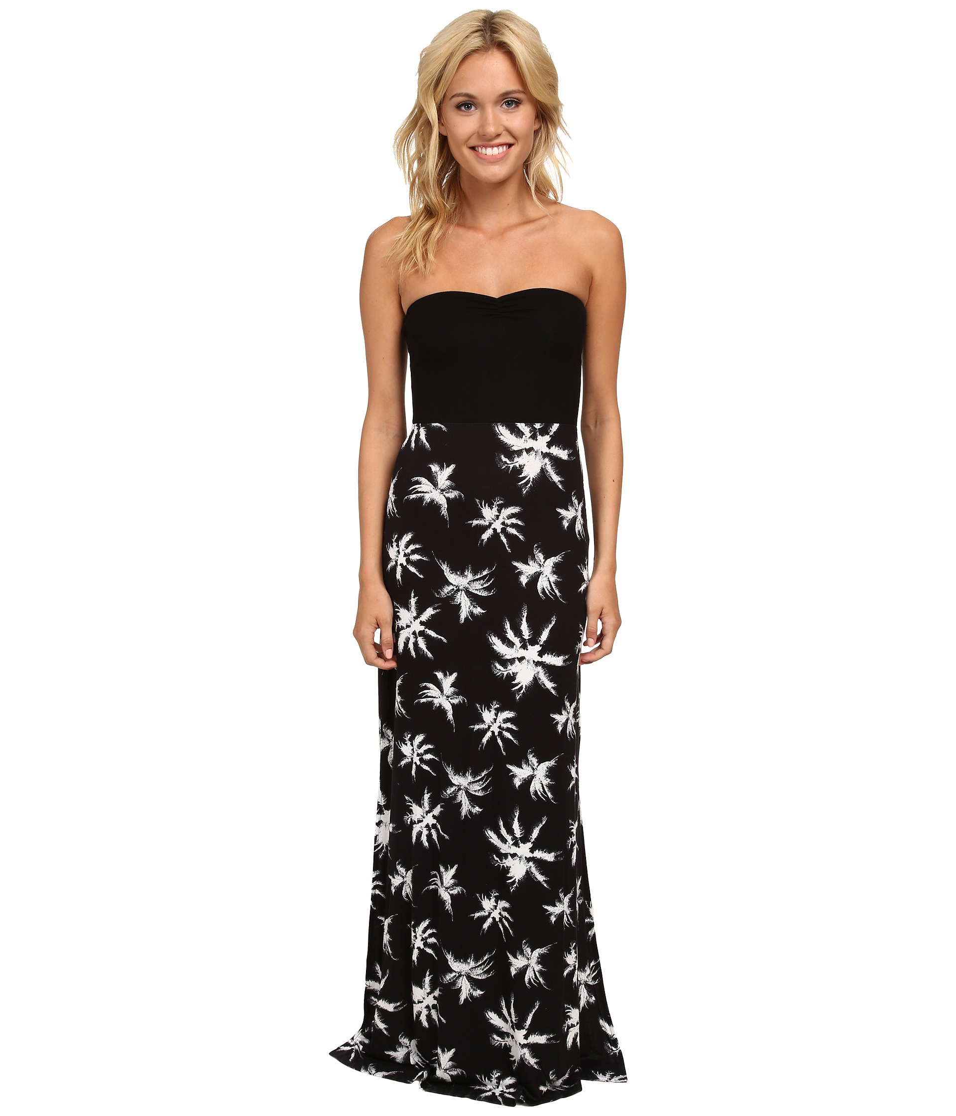 Hurley Tomboy Maxi Strapless Dress in Black   Lyst