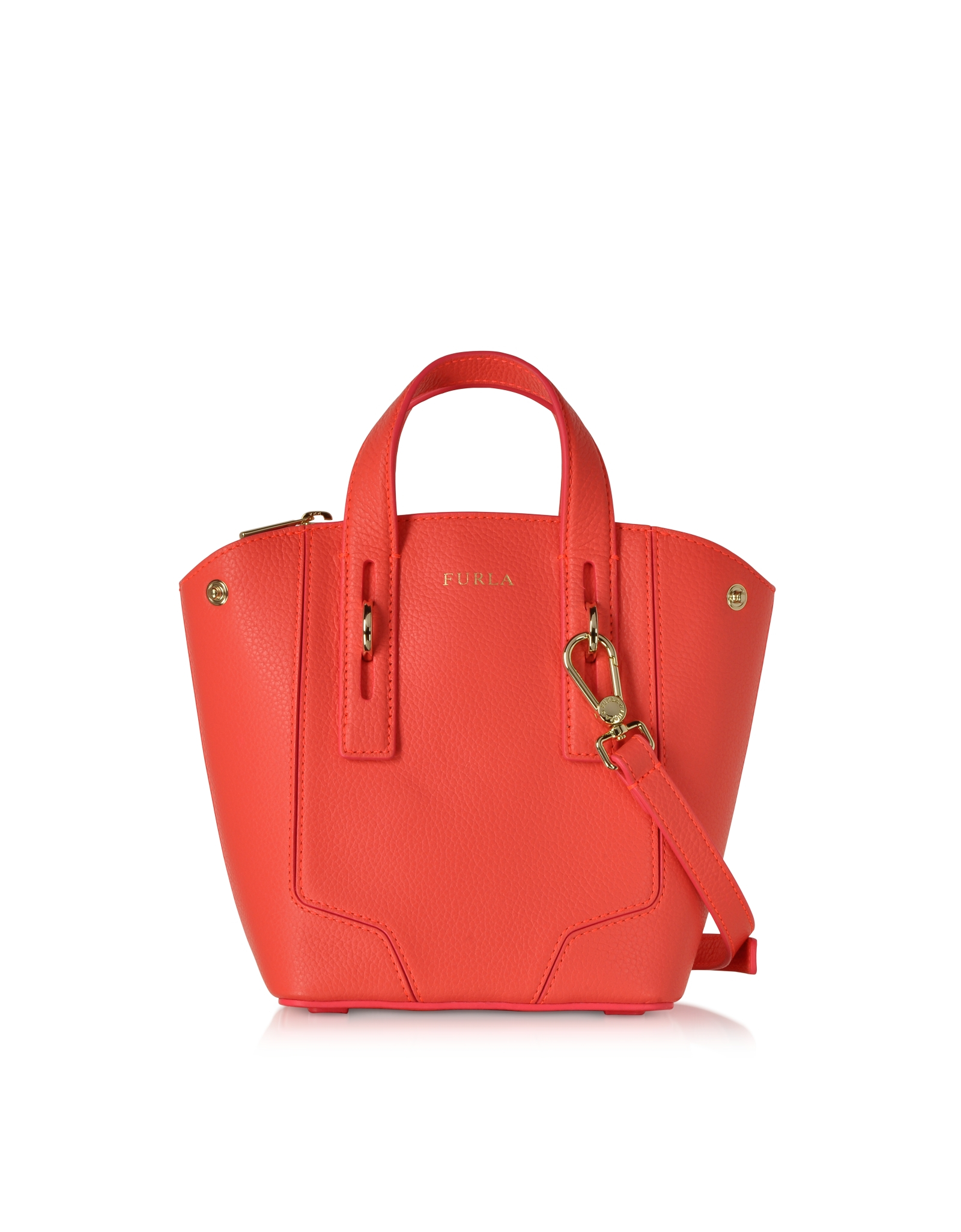 furla perla mini crossbody tote bag in orange lyst