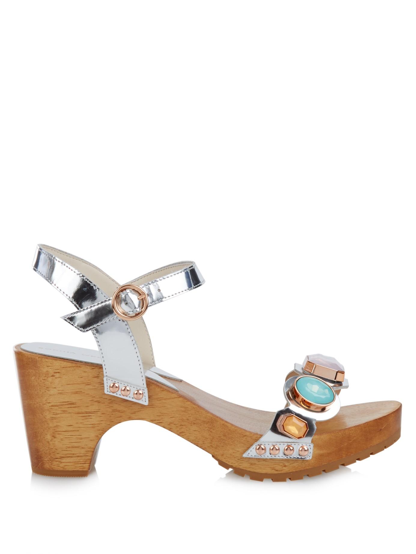 Lyst Sophia Webster Ava Embellished Leather Sandals In
