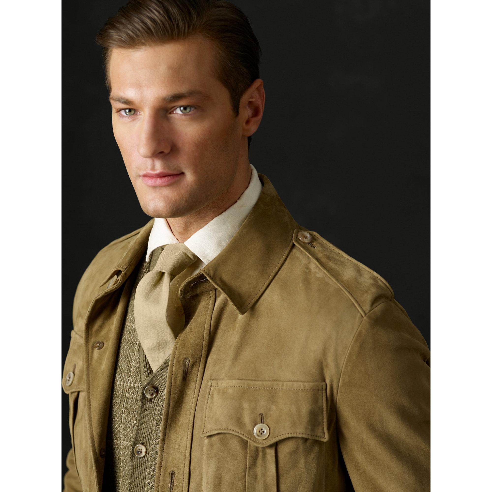Lyst Ralph Lauren Purple Label Lancey Safari Jacket In