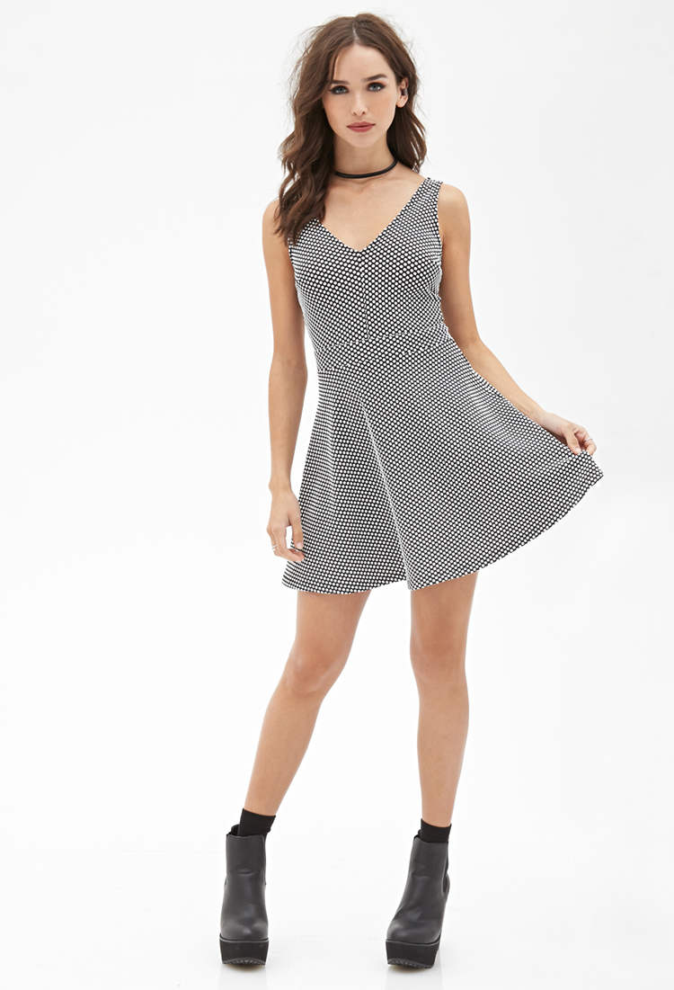Lyst - Forever 21 Polka Dot Skater Dress You ve Been Added To The ... 8afd581d5