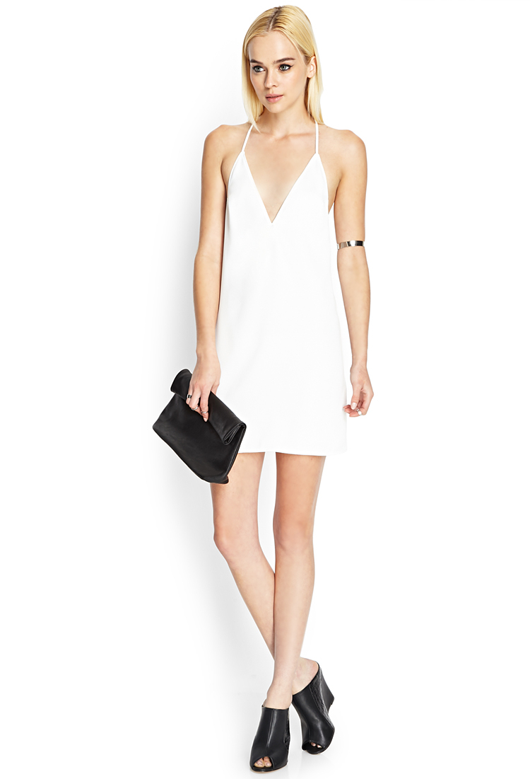 6e4b7b1c4b Lyst - Forever 21 Strappy Cami Shift Dress in White