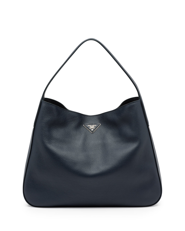 aaa replica handbags suppliers - Prada Vitello Daino Medium Wide-strap Hobo Bag in Black (BALTICO ...