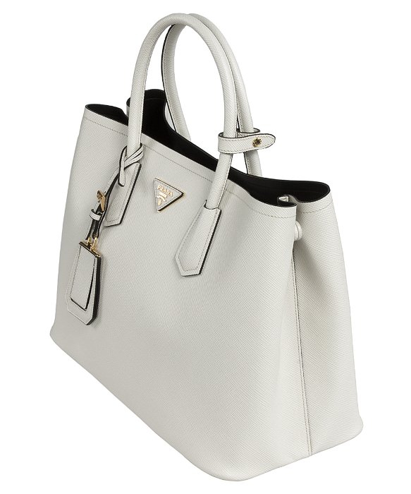 a4f8aca092da Prada B2756T Bag - F0K74 Talco (Chalk White) Saffiano Cuir Leather Tote in  White