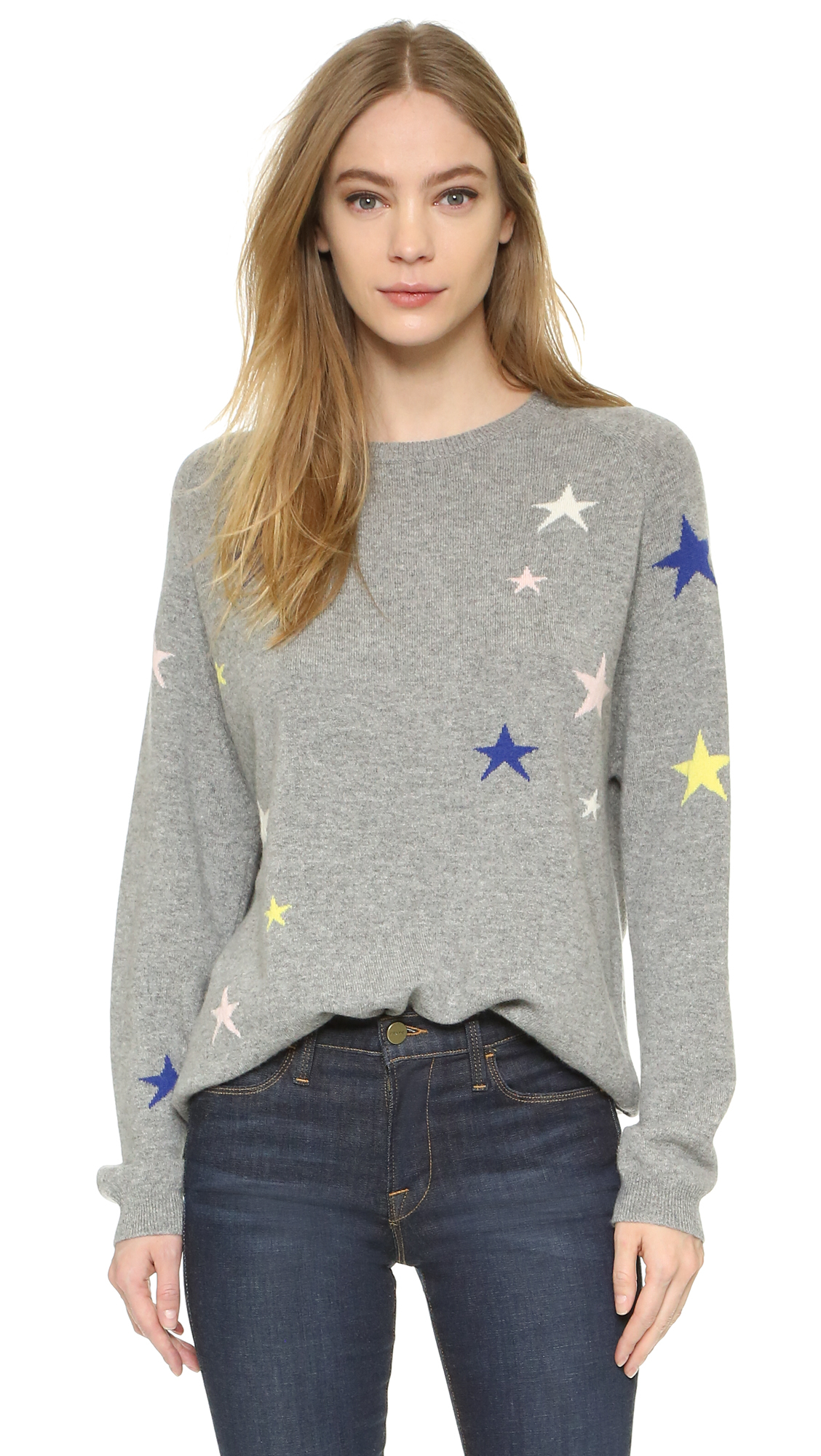 a5bc0dc3dd Lyst - Chinti   Parker Slouchy Star Cashmere Sweater in Gray