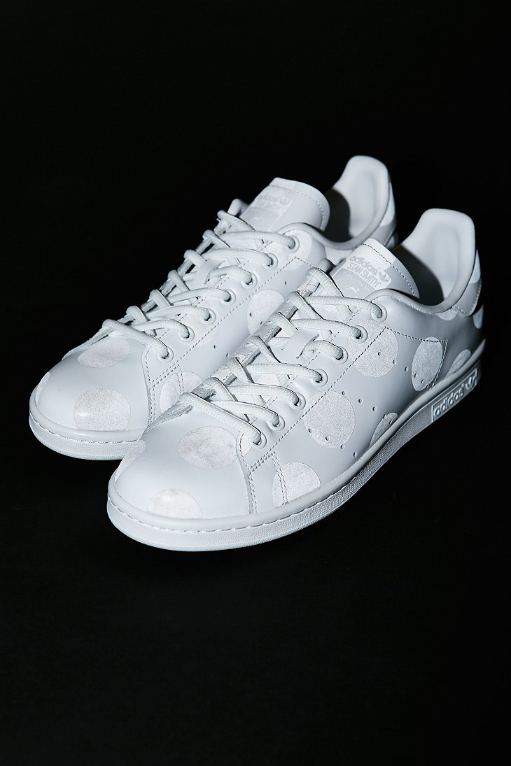 lyst adidas originals stan smith reflective dot sneaker in white for men. Black Bedroom Furniture Sets. Home Design Ideas