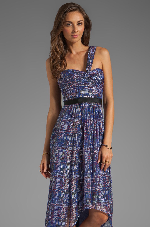 999b89c9dbaa BCBGMAXAZRIA Printed One Shoulder Hi-Low Dress in Purple - Lyst