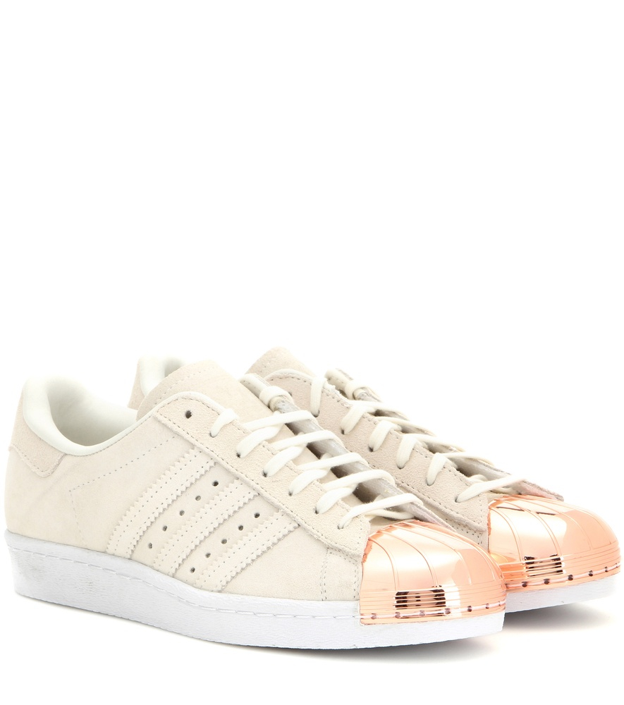 adidas superstar 80s rose gold metallic white leather. Black Bedroom Furniture Sets. Home Design Ideas