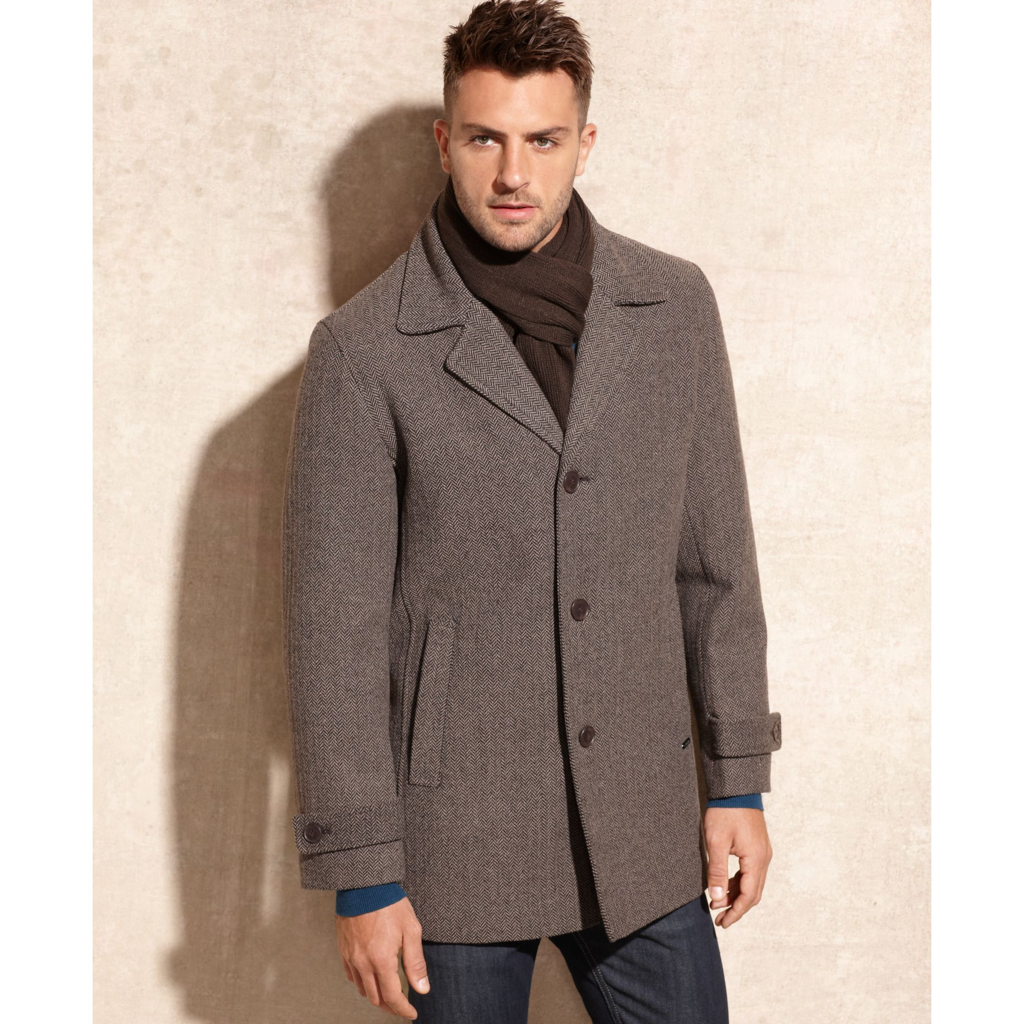 tommy hilfiger wool blend walking coat – Maskbook