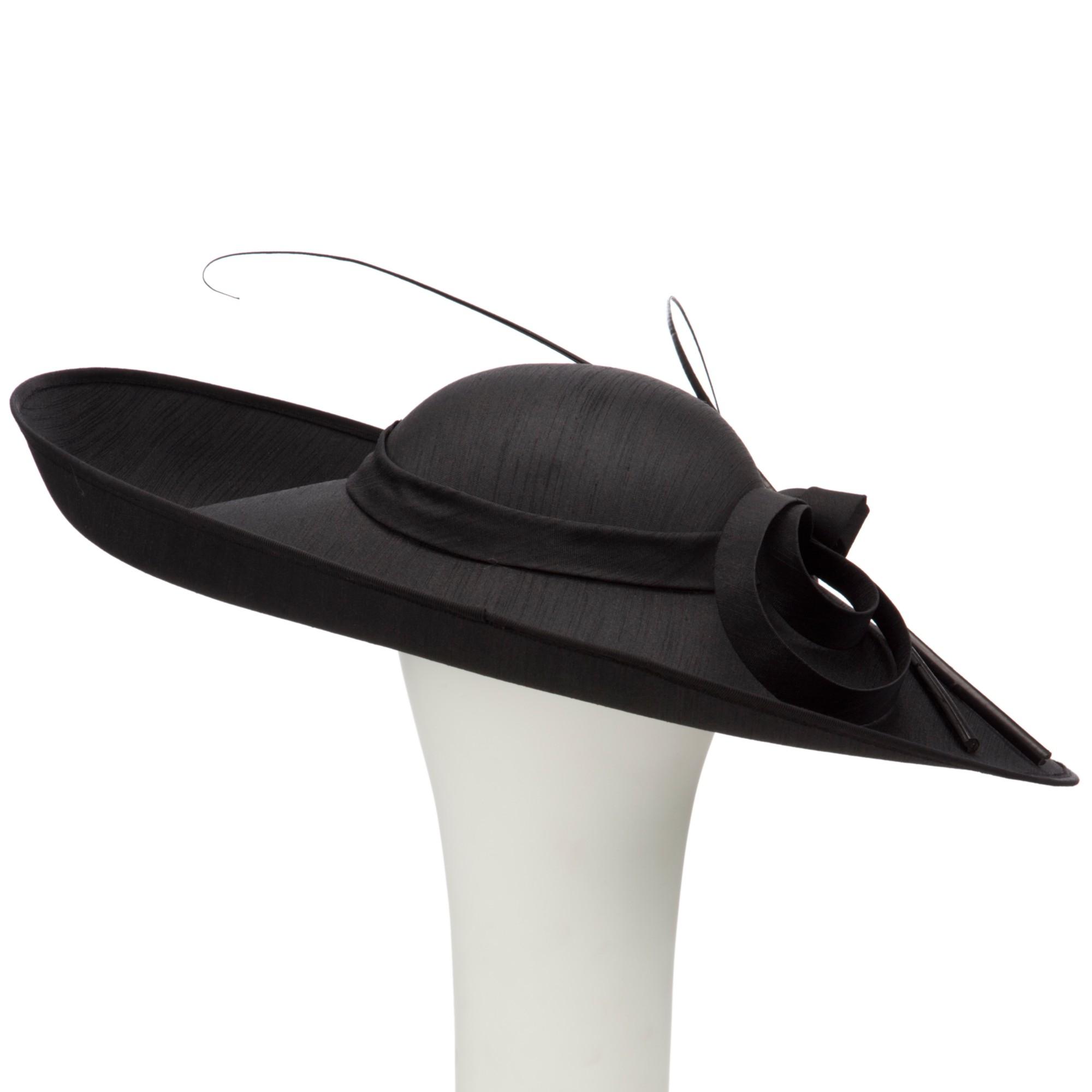 John Lewis Zoe Upturned Shantung Disc Occasion Hat in Black - Lyst bccdd2af9c0