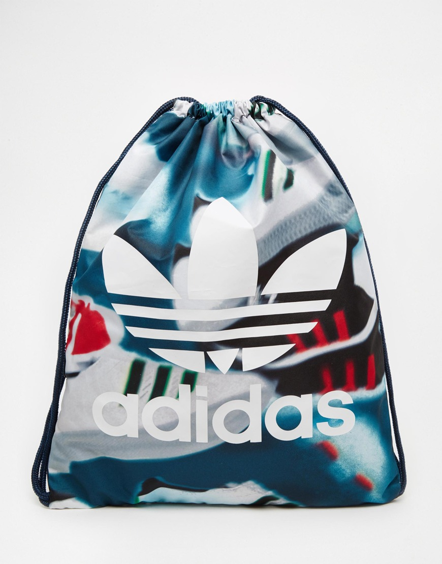 Adidas Originals Hard Geometric Drawstring Backpack- Fenix Toulouse ... a6b398b4331ed