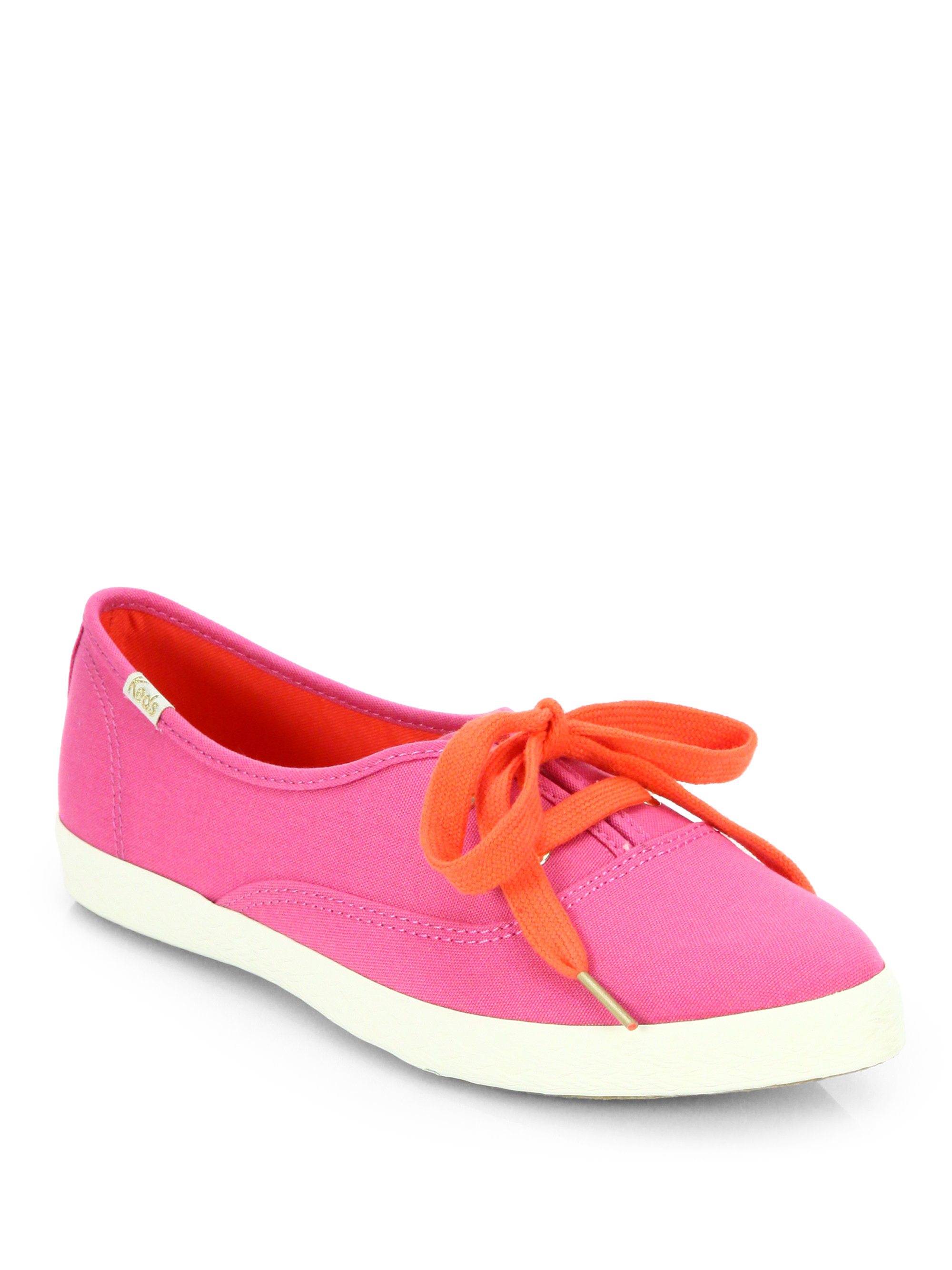 Kate Spade Pointer Canvas Keds Sneakers In Pink Lyst