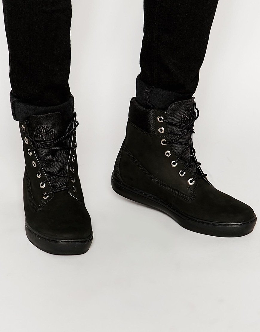 Timberland Newmarket Cupsole Boots In Black For Men Lyst