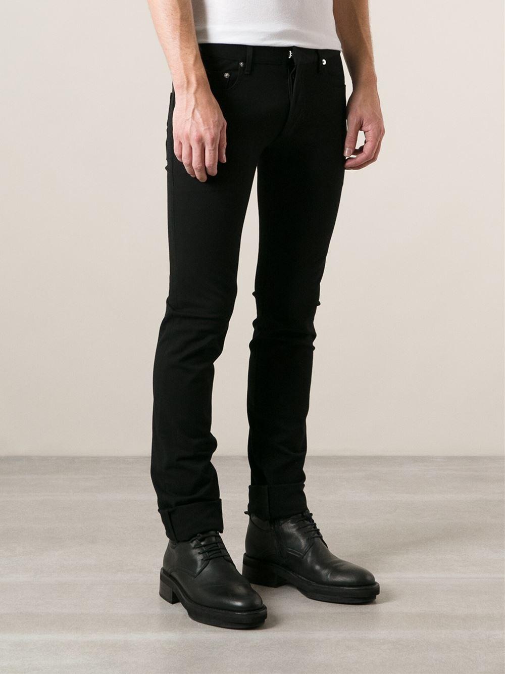 dior homme slim jeans in black for men lyst. Black Bedroom Furniture Sets. Home Design Ideas