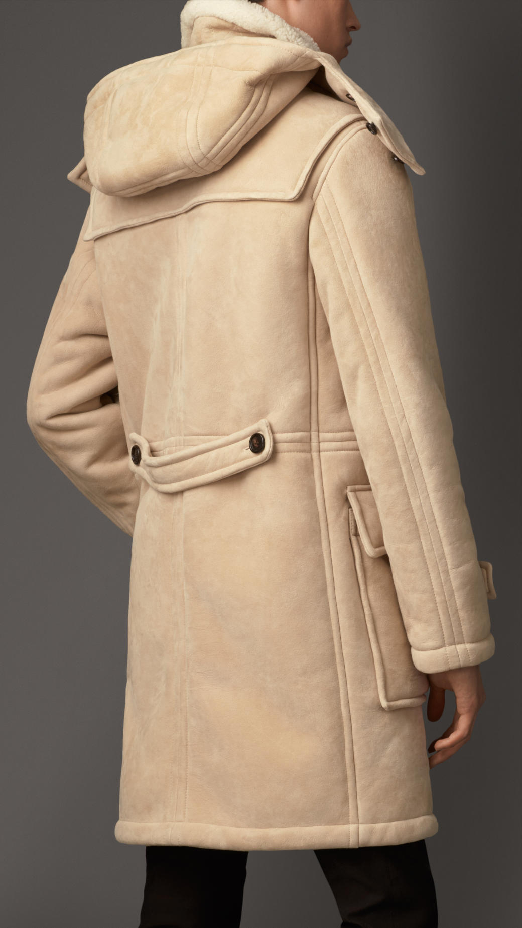 Lyst Burberry Heritage Detail Shearling Duffle Coat In