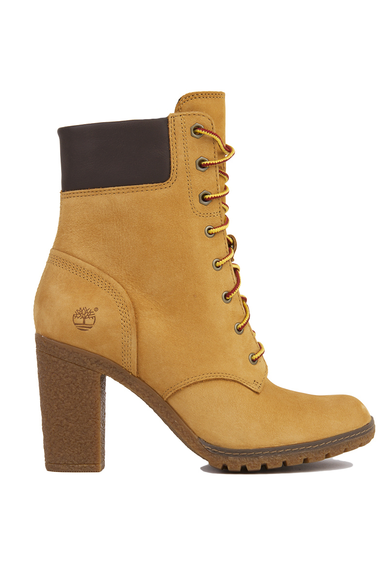 timberland glancy 6 inch heeled boots wheat nubuck in