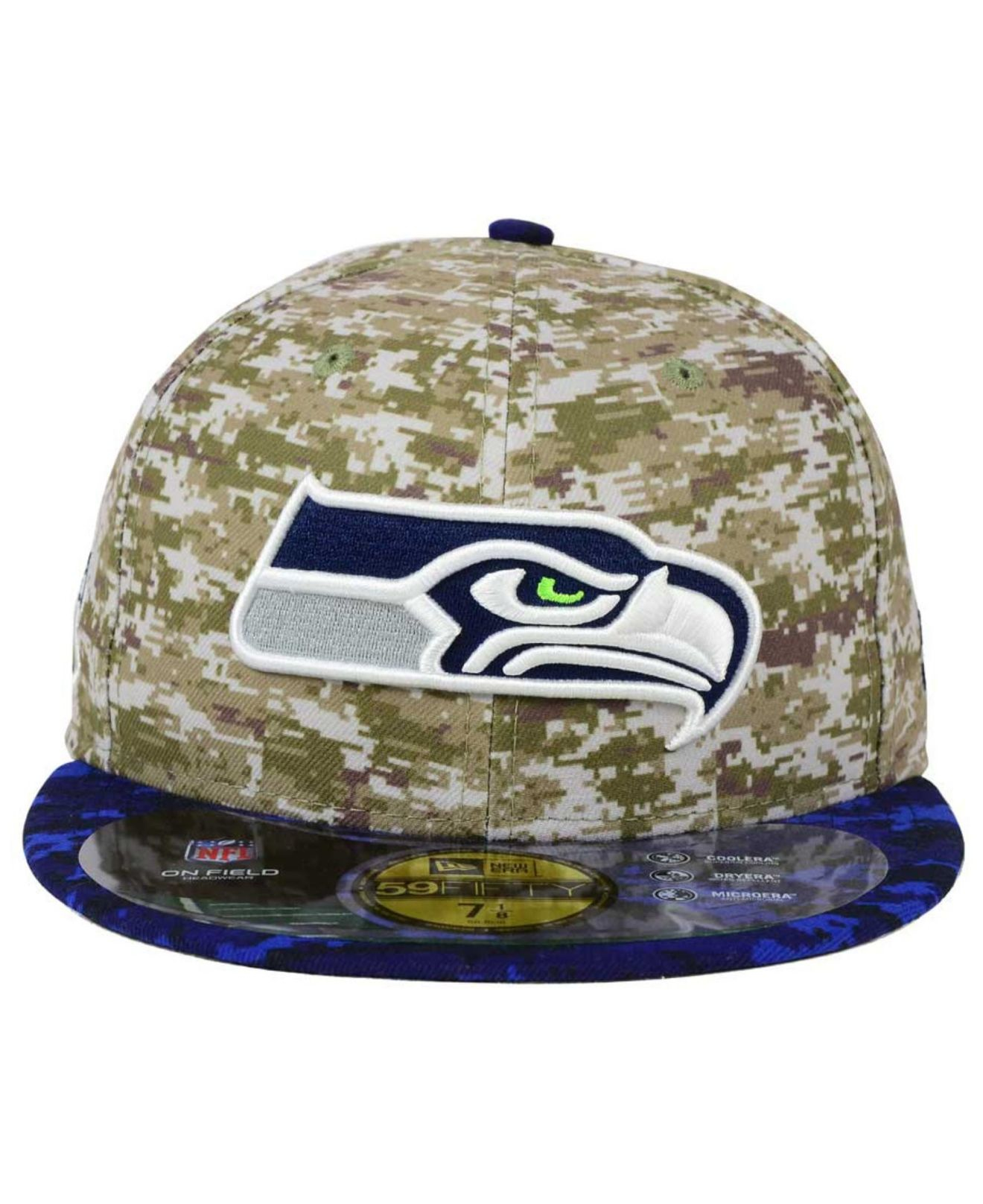 outlet store 78497 35174 KTZ Seattle Seahawks Salute To Service 59fifty Cap in Blue for Men ...