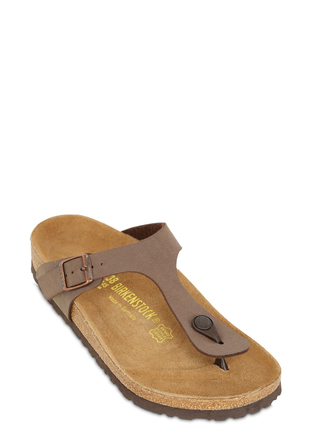 4a43ab181d9e Lyst - Birkenstock Gizeh Nubuck Thong Sandals in Brown for Men