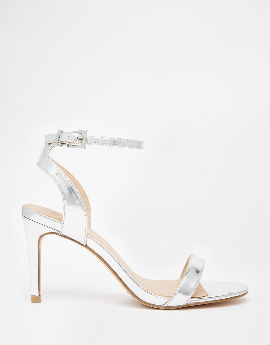 Wide Silver Heels - Qu Heel