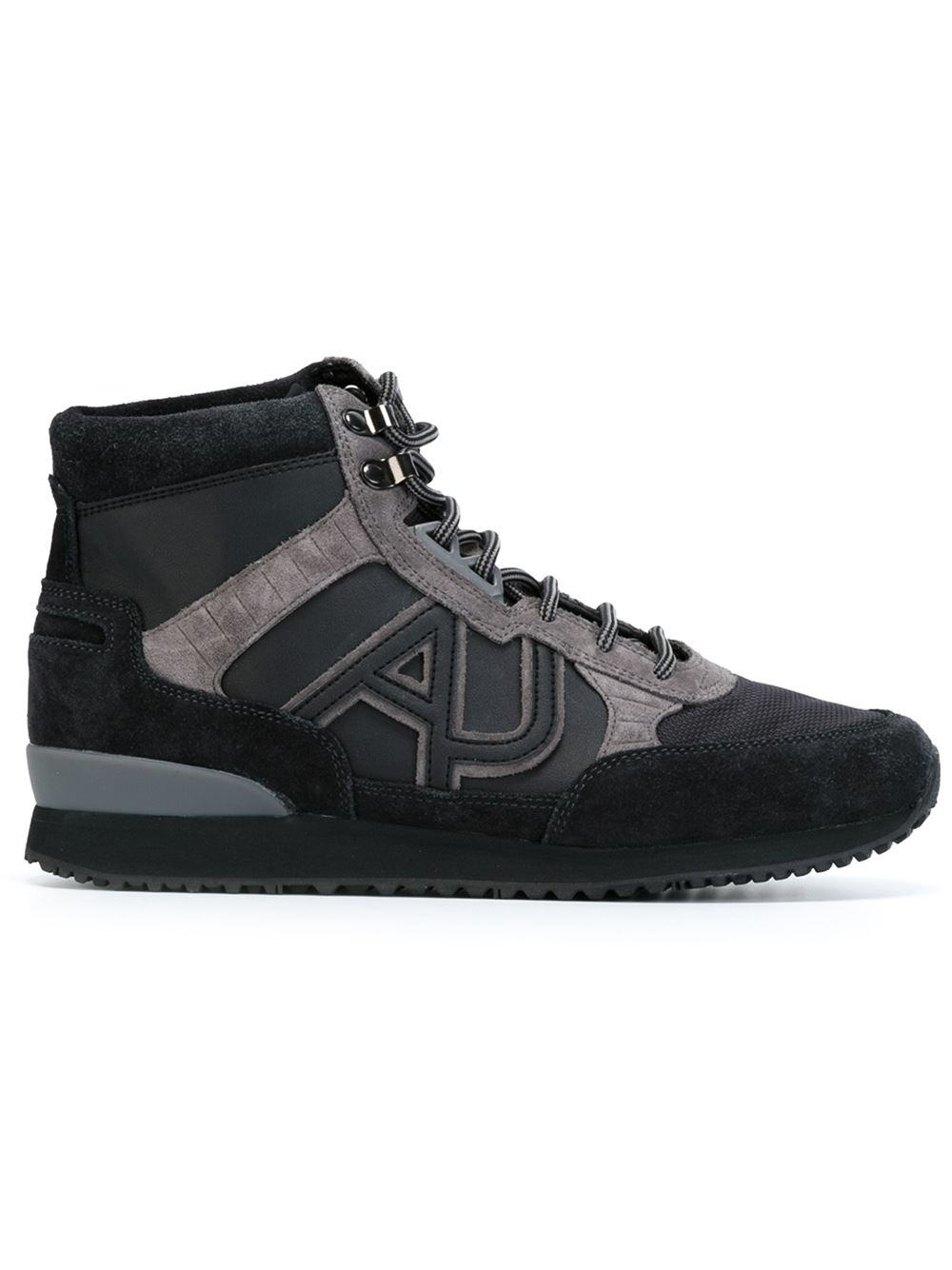 ... armani jeans high top sneaker with logo product 2 198086368 normal