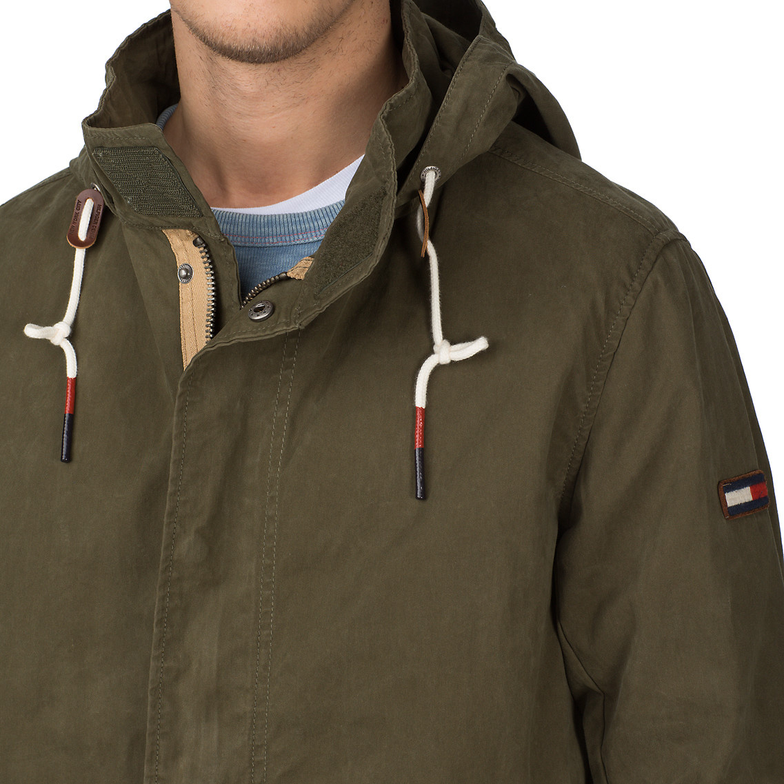 tommy hilfiger baltimore hooded parka in green for men lyst. Black Bedroom Furniture Sets. Home Design Ideas