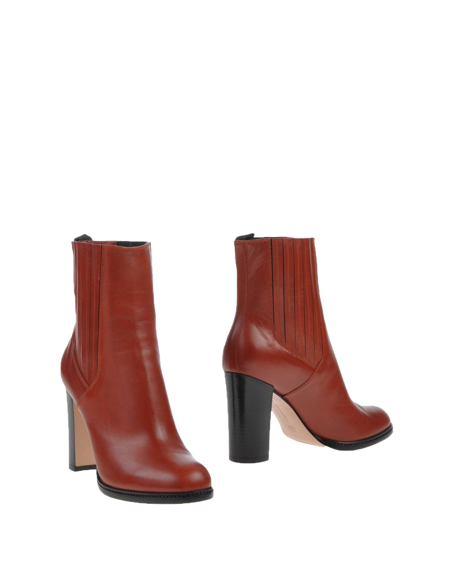 gianvito rossi ankle boots in red rust lyst. Black Bedroom Furniture Sets. Home Design Ideas