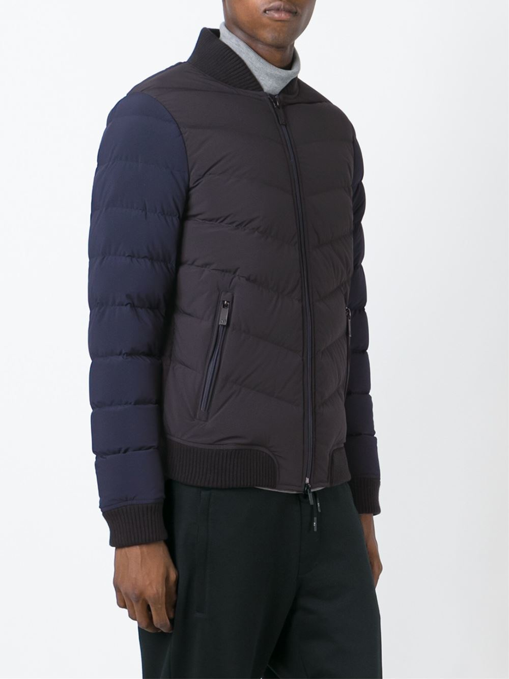 Armani jeans Padded Bomber Jacket in Blue for Men   Lyst : armani jeans quilted jacket - Adamdwight.com