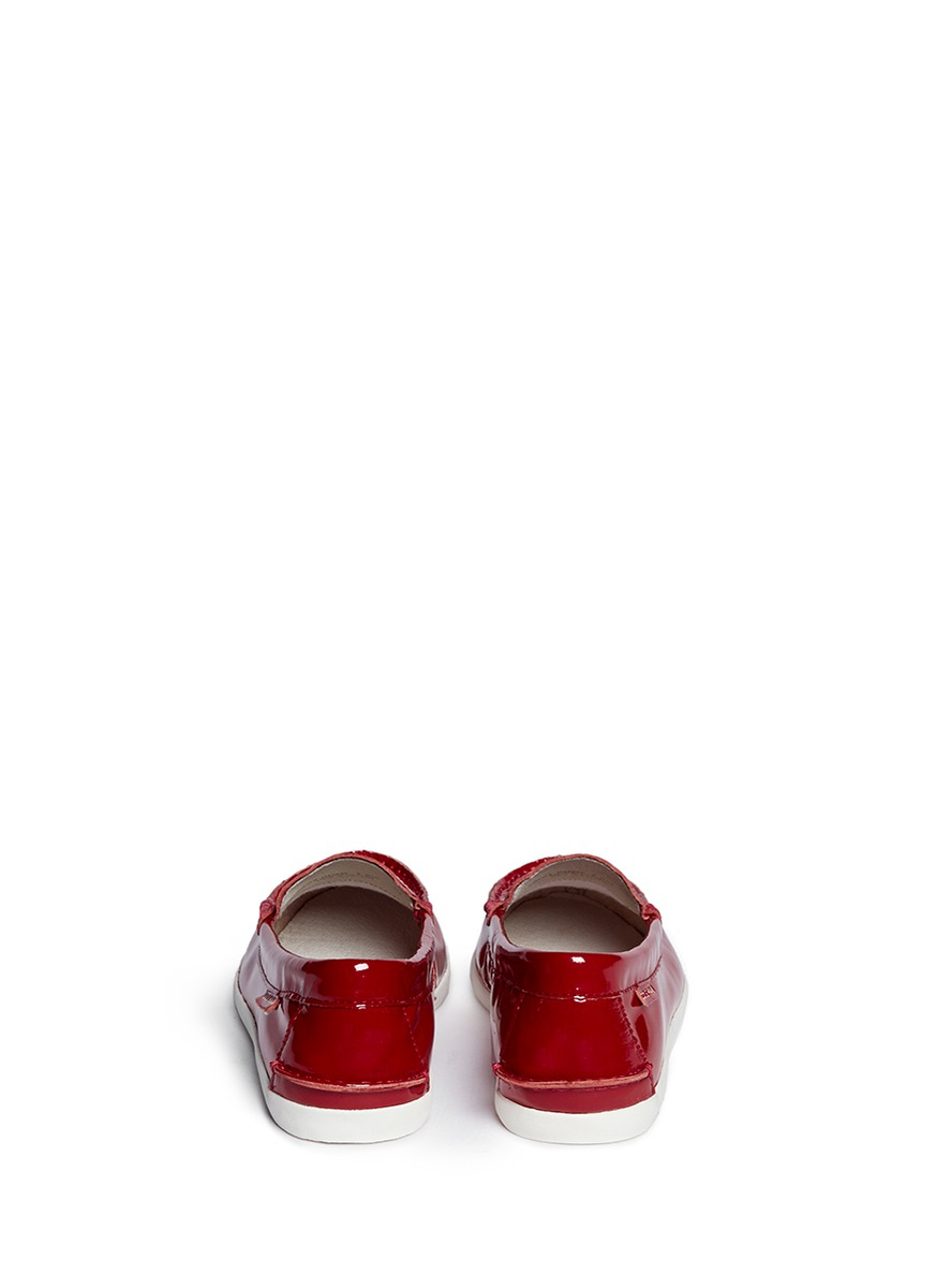 15e298d1883 Lyst - Cole Haan  Pinch Lte  Patent Leather Weekender Loafers in Red