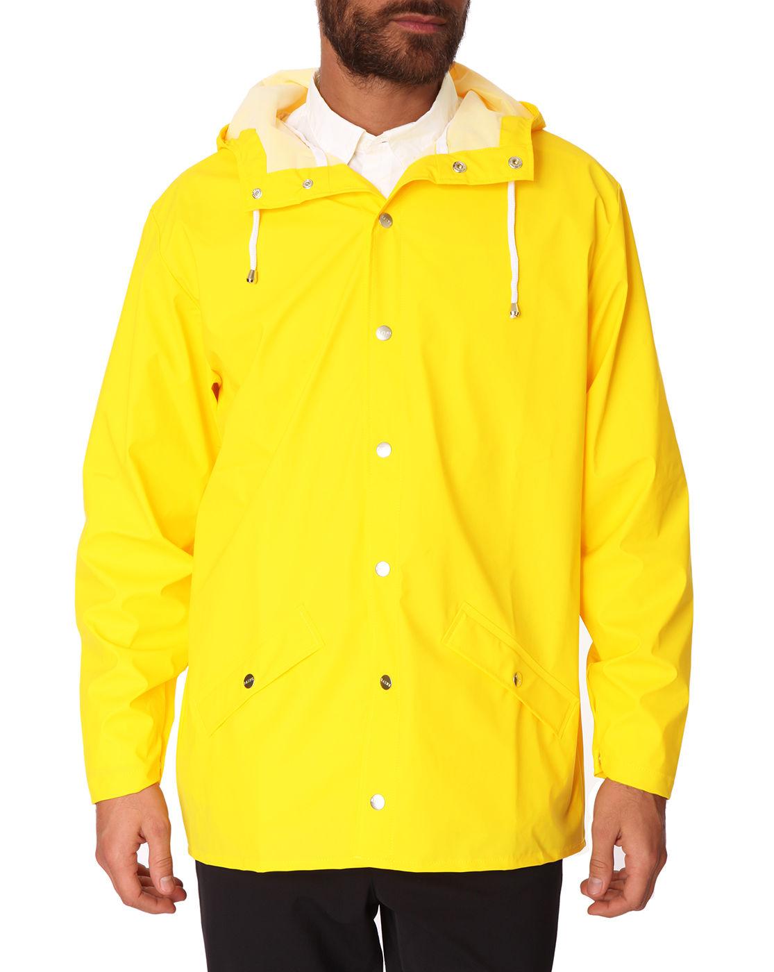 Rains Yellow Waterproof Jacket in Yellow for Men | Lyst